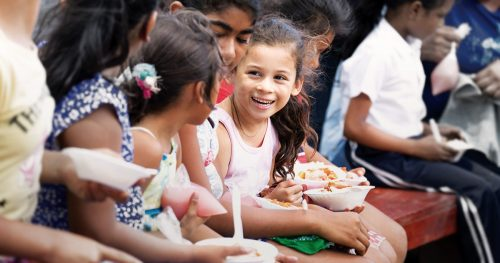 children of La Paz Centro receive nutritious meals