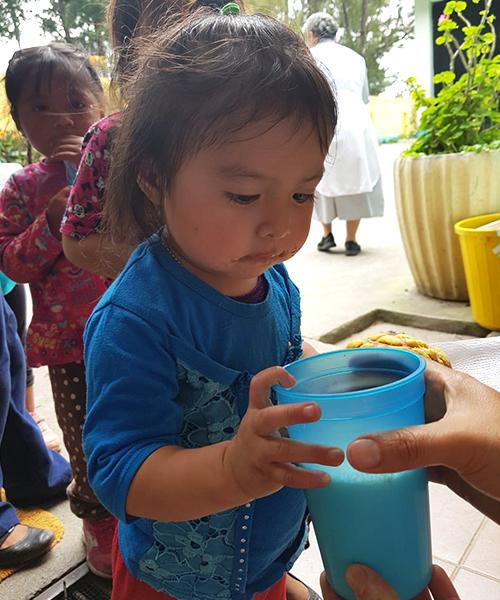 Milk is a simple, yet beautiful, gift that will help nourish little Esmeralda.
