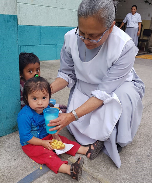 Your support helps Sr. Marina feed poor children such as Esmeralda.