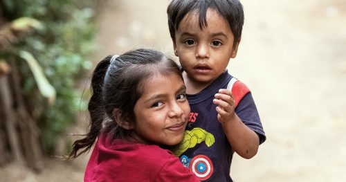 Poor children in Guatemala