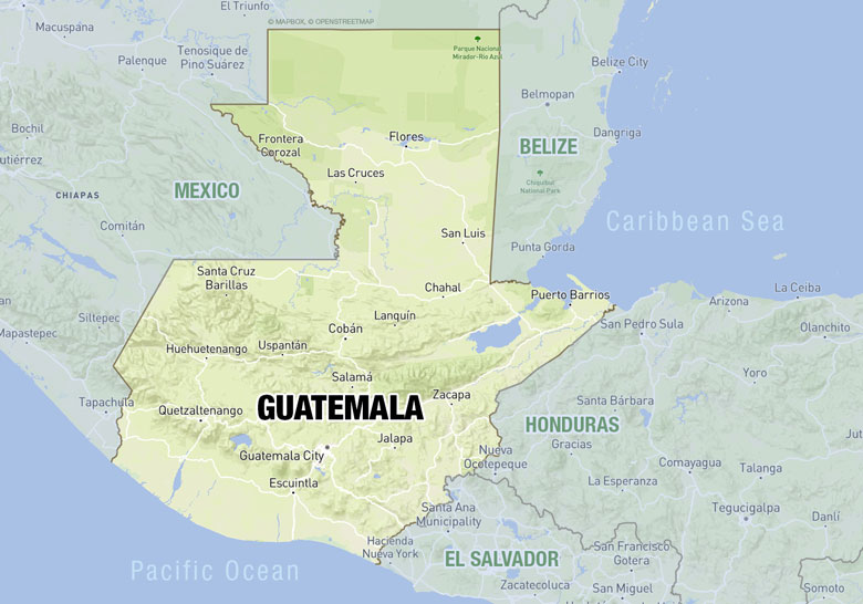 Map of Guatemala projects