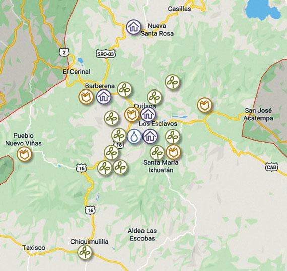 Santa Rosa project map