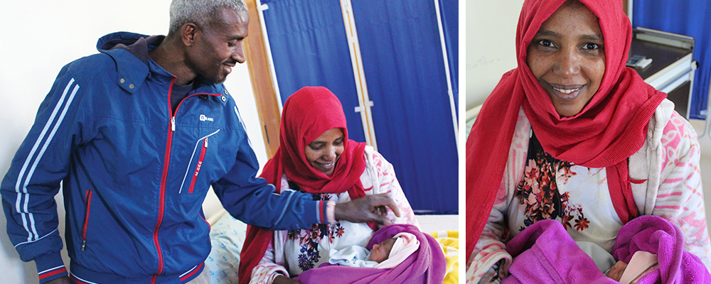 Shikuria recently gave birth to a healthy baby at St. Gabriel Catholic Health Center.