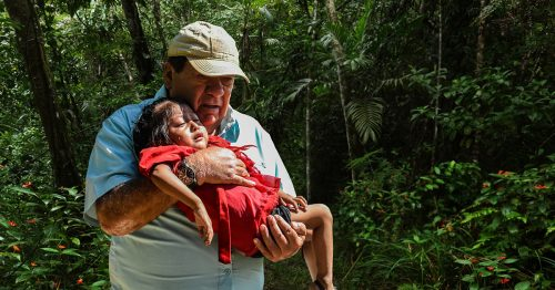 Carlos Vargas of Hope of Life in Guatemala rescues a malnourished child