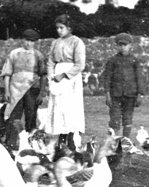 The only known photograph of Maria Goretti, from 1902