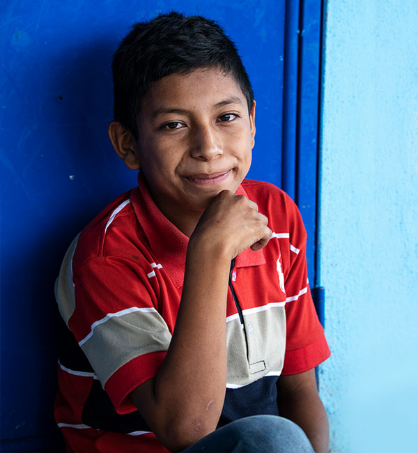Remigio in rural Guatemala smiles for the camera
