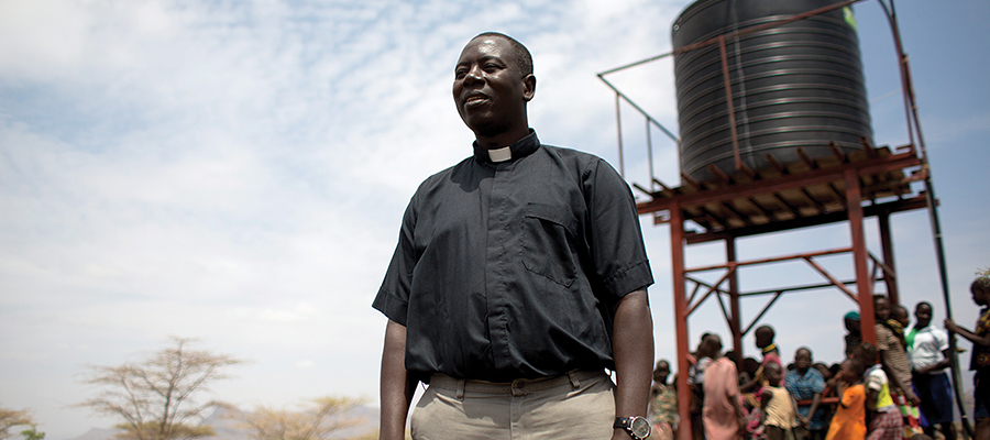 One of Cross Catholic Outreach Ministry Partner in Kenya, Father Fabian Hevi