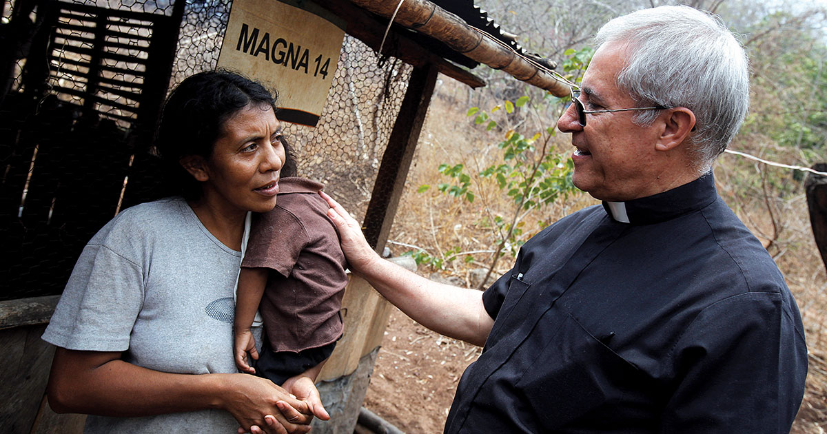 Maria and Luis housing with Father Raul in Guatemala
