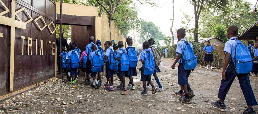 Students at the Kobonal Haiti Mission school
