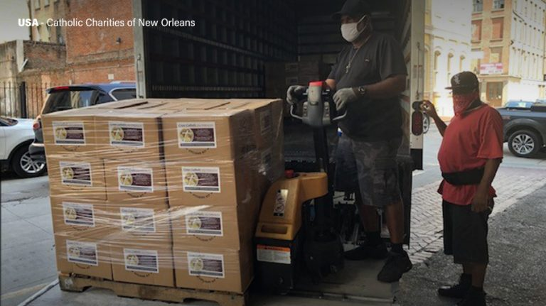 Cross Catholic Outreach and Catholic Charities of New Orleans team up to provide COVID relief