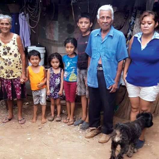 Marta Luz, 72, and her family are among villagers blessed by the food you provided.