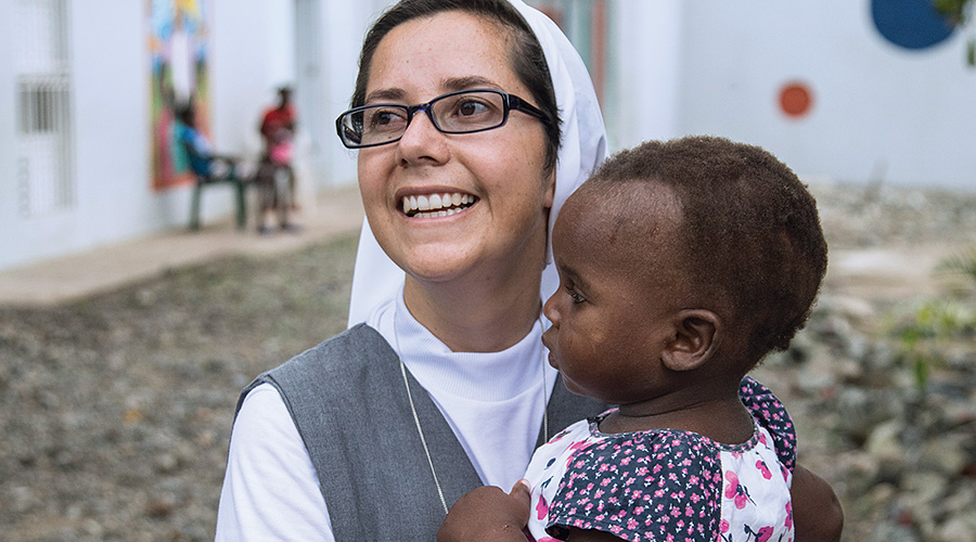 Sister Alexandra at the St. Teresa Safe Home in Ouanaminthe, Haiti