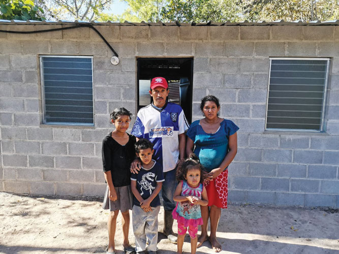 A family in Guatemala receives a safe, sturdy new home.