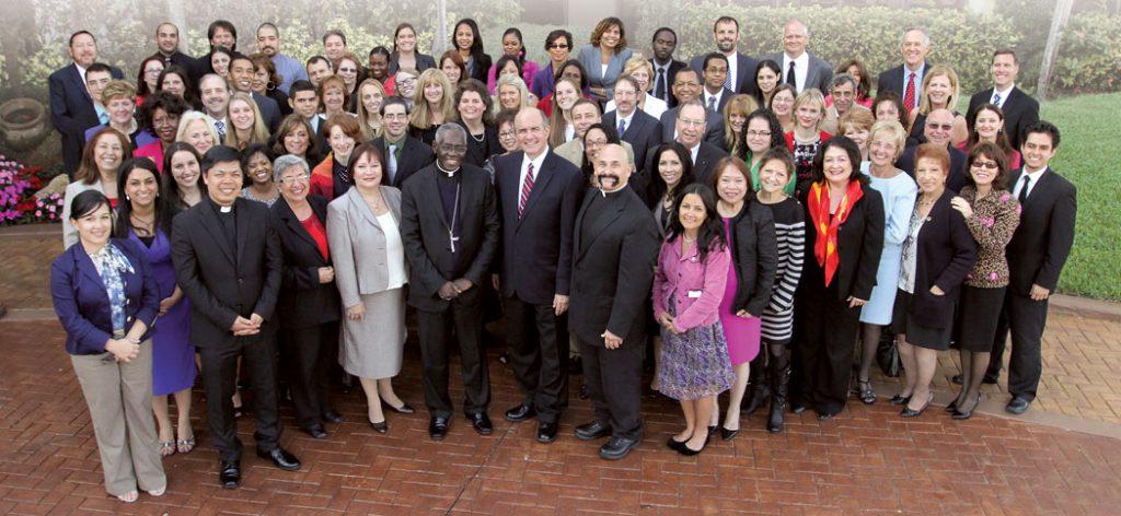 Cardinal Robert Sarah with Cross Catholic Outreach staff in 2013.