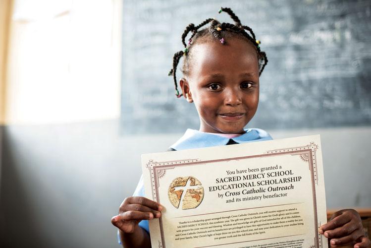 Cross Catholic Outreach provides scholarships for children in Kenya.