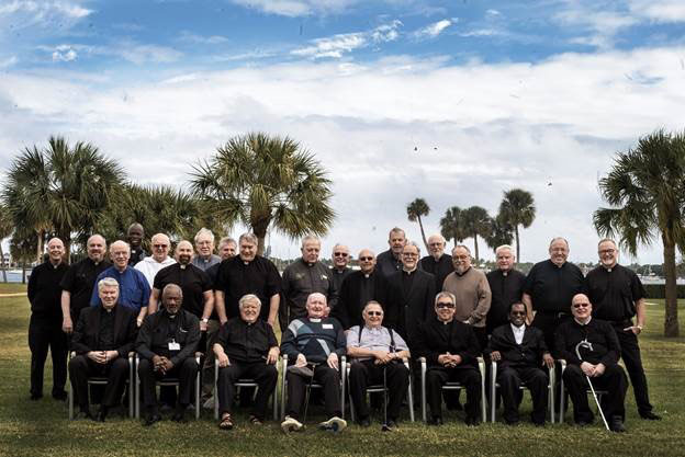 Cross Catholic Outreach Priests at Our Lady of Florida Retreat Center in 2019.