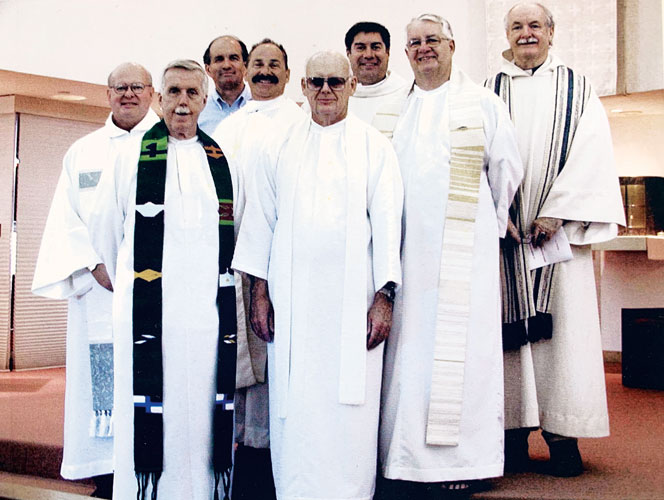 Jim with the original group of Cross Catholic Outreach Priests in 2002.