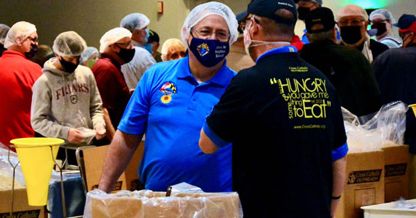 Maryland Chapters of Grand Knights Food Packing Event