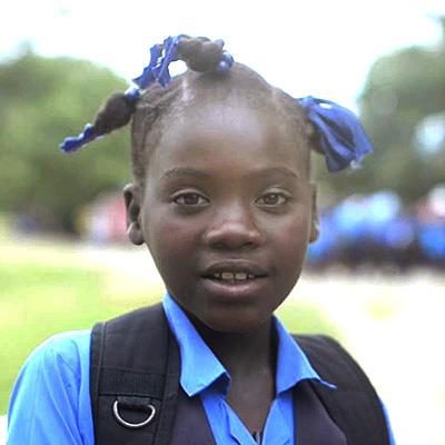 Mifaida in her Kobonal School uniform.