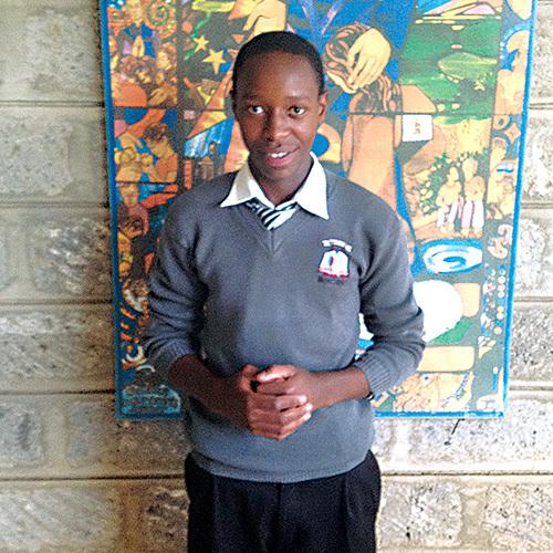Brian in his school uniform.