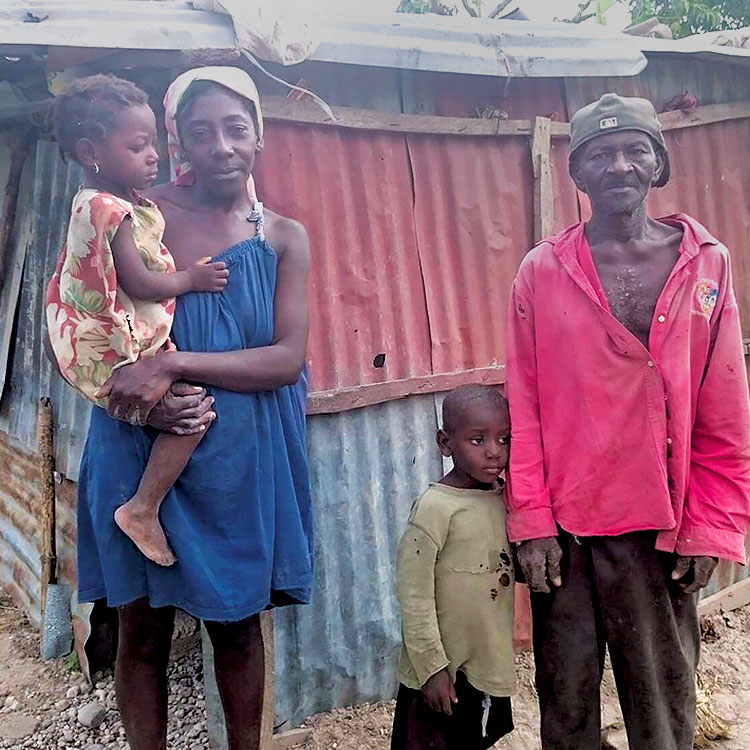 When Fr. Meaux started the Kobonal Haiti Mission, most families lived destitution