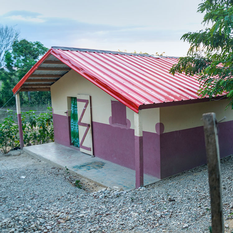 Today, Kobonal homes are made of concrete with a galvanized steel roof!