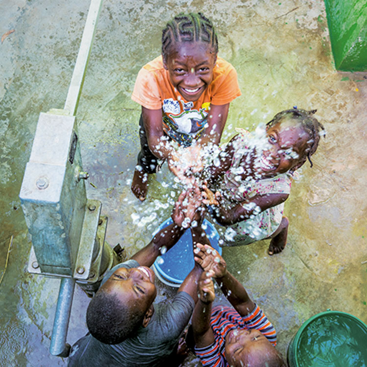 The Kobonal Haiti Mission also builds clean water wells.