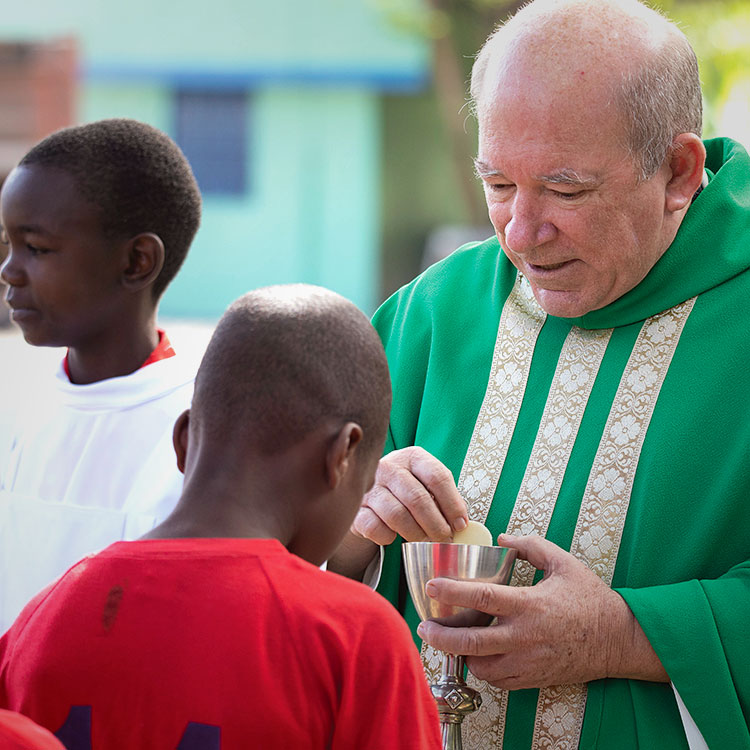 Fr. Meaux makes spiritual formation a priority, knowing that true transformation comes from Jesus Christ.